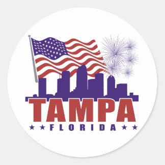 Tampa Florida Patriotic Sticker