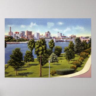 Tampa Florida Skyline from Davis Island Poster