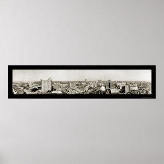 Tampa, Florida Skyline Photo 1921 Poster