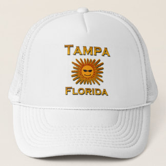Tampa Florida Sun Logo Trucker Hat