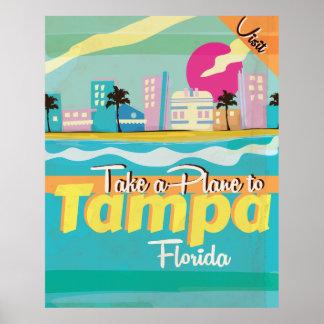 Tampa,Florida vintage Travel Poster. Poster