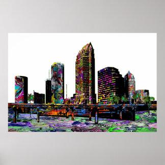 Tampa in graffiti poster