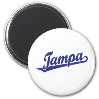 Tampa script logo in blue magnet
