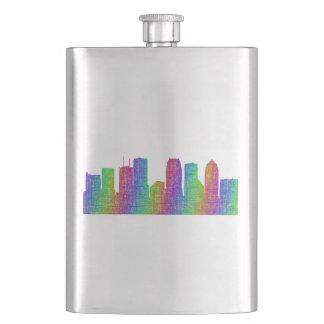 Tampa skyline hip flask