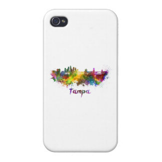 Tampa skyline in watercolor iPhone 4/4S cover