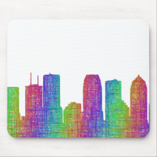 Tampa skyline mouse pad