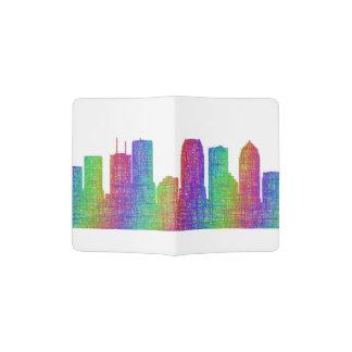 Tampa skyline passport holder