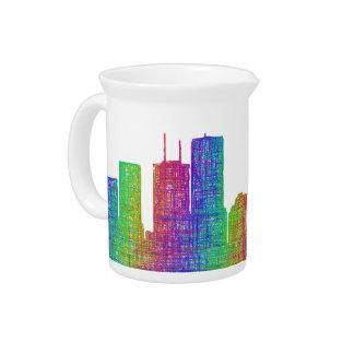 Tampa skyline pitcher