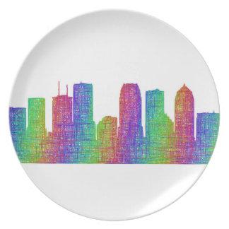 Tampa skyline plate