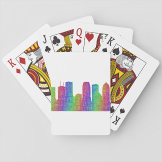 Tampa skyline playing cards
