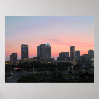 Tampa Skyline Poster