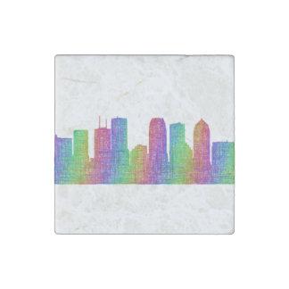Tampa skyline stone magnets