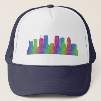 Tampa skyline trucker hat