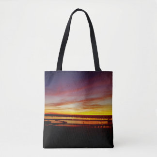 Tampa Sunset Tote Bag