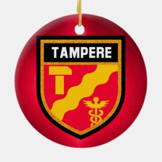 Tampere Flag Ceramic Ornament
