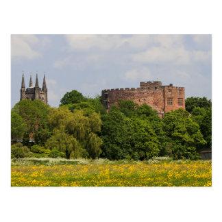Tamworth Castle and St Editha's church postcard