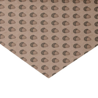 Tan Acorn Patterned Tissue Paper