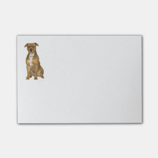 Tan American Staffordshire Terrier Dog - Amstaff Post-it Notes