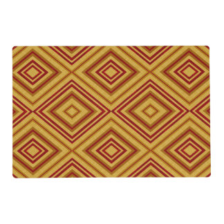 Tan and Red Pattern Place Mat Laminated Placemat