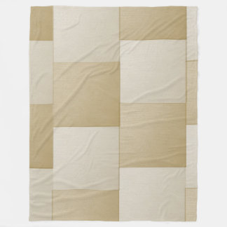 Tan and Tan Fleece Blanket