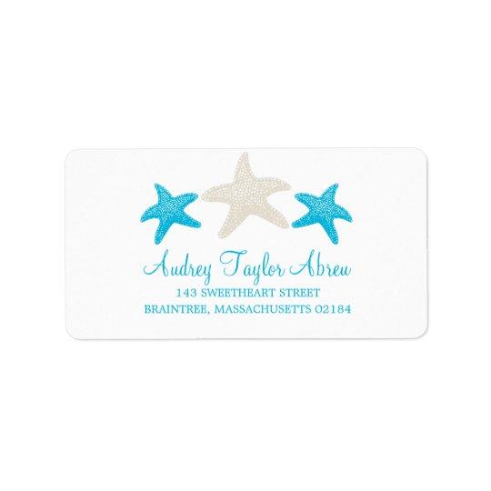 Tan and Teal Starfish | Return Address