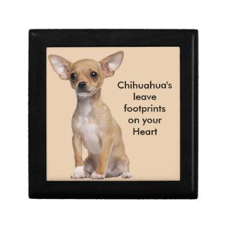 Tan and White Chihuahua Trinket Boxes