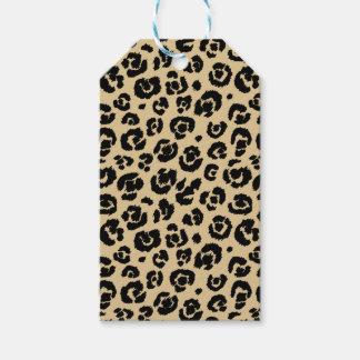 Tan Beige Black Leopard Print Gift Tags