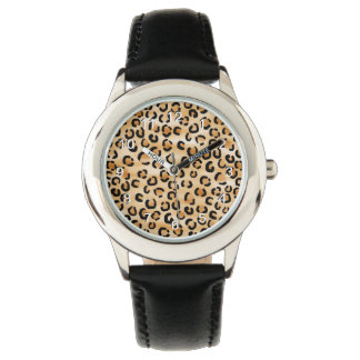 Tan, Black and Brown Leopard Print Pattern. Watch