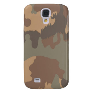 Tan, brown and Gray Military Camo Galaxy S4 Case