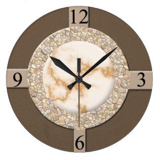 Tan/Brown/Stone Large Clock