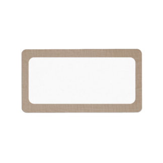 Tan Burlap Canvas | Blank Address Label