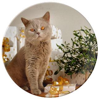 Tan Cat Plate