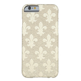 Tan champagne royal elegant business fleur de lis barely there iPhone 6 case
