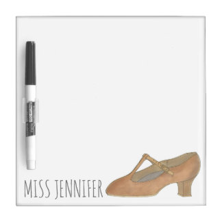 Tan Character Dance Shoe Musical Theatre Teacher Dry Erase Board