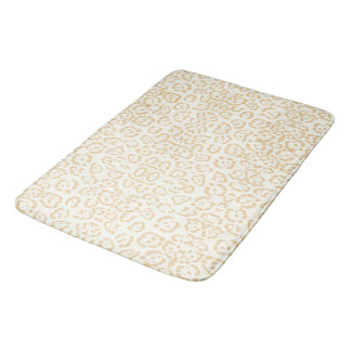 Tan Cheetah Animal Cat Print Bath Mat