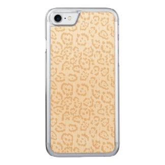 Tan Cheetah Animal Cat Print Carved iPhone 8/7 Case