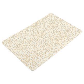Tan Cheetah Animal Cat Print Floor Mat
