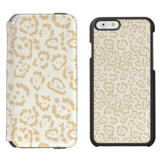 Tan Cheetah Animal Cat Print Incipio Watson™ iPhone 6 Wallet Case
