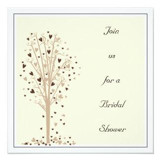 Tan & Cocoa Heart Tree : Shower Invitation