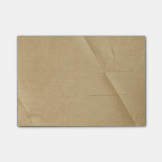 Tan Cream Folded Creased Background Post-it Notes
