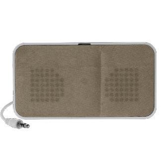 Tan Creased Paper Background Mini Speakers
