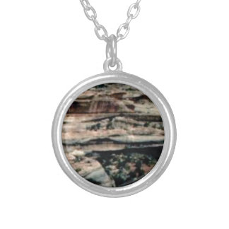 tan desert fill silver plated necklace