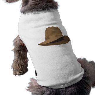 Tan Fedora narrow ribbon Dog Clothes