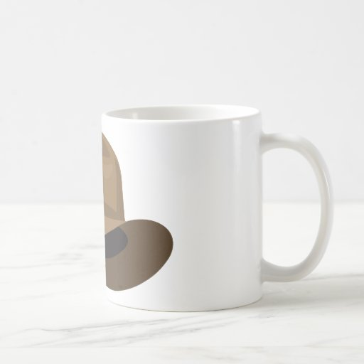 Tan Fedora narrow ribbon Coffee Mug