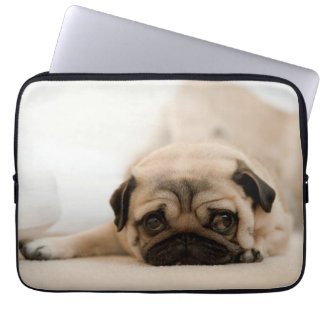 Tan Female Pug Laptop Sleeve