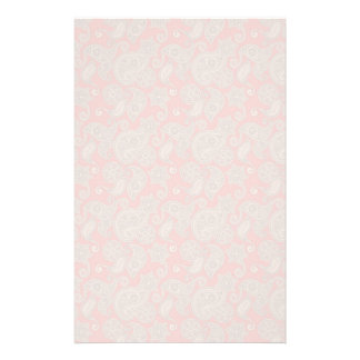 Tan Floral Paisley on Peach Custom Stationery