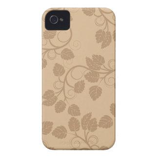 Tan foliage swirls stylish blackberry bold case