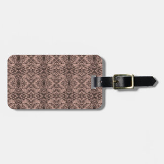 Tan Foxtail Repeat Luggage Tag