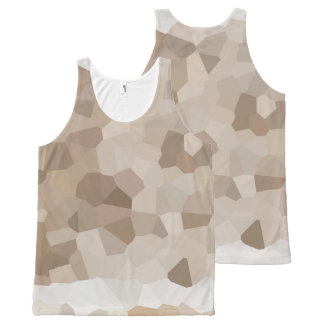 Tan Geometric All-Over-Print Tank Top