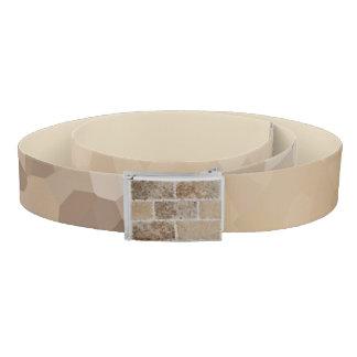 Tan Geometric Belt